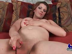 Slutty Tranny Plays With Her Boner 2