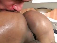 Hot Breasted Latin TS Tastes Partner`s Boner 2