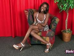Have Fun With Sexy Black Tranny Kandi Kane 1