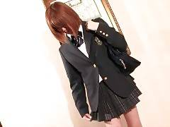 Young Asian tgirl Rina Shinoda wants some fun before school.