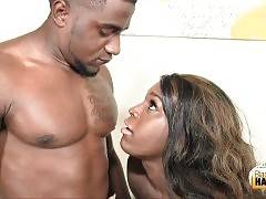 Curvaceous Black TS And Muscled Guy Get Horny 2