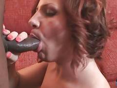 White Tranny And Black Guy Exchange Blowjobs 3