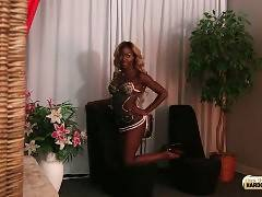 Sexy T-Ebony China Sensually Poses For Camera 1