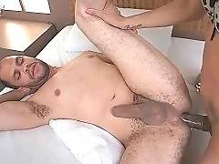 Pretty shemale likes to fuck his big ass