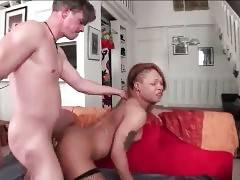 In this porn video you can see innocent and slutty whore
