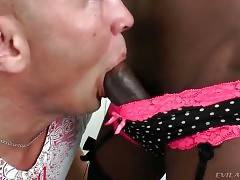 White Dude And Lovely Black T-Girl Get Horny 1