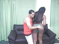 Cute Black Tranny Owns Awesome Big Round Ass 1