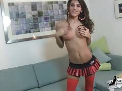 Petite T-Girl Steffany Strips For Your Joy 2
