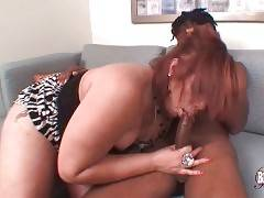 T-Ebony Alicia Hunter Gives Lucky Hot Blowjob 1
