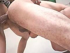 Cute baroness with big dick is drilling his ass