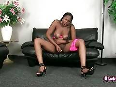 Breasted Black Tranny Is Caressing Herself 2