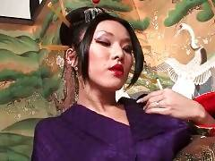 Hot Transsexual Geisha Sensually Strips For You 2