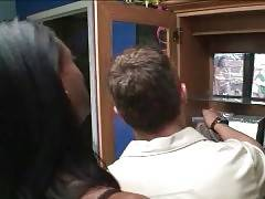 Watch how ebony TS Natalia Coxxx is interviewing tough guy.
